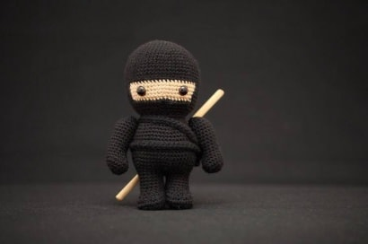 Crocheted Ninja