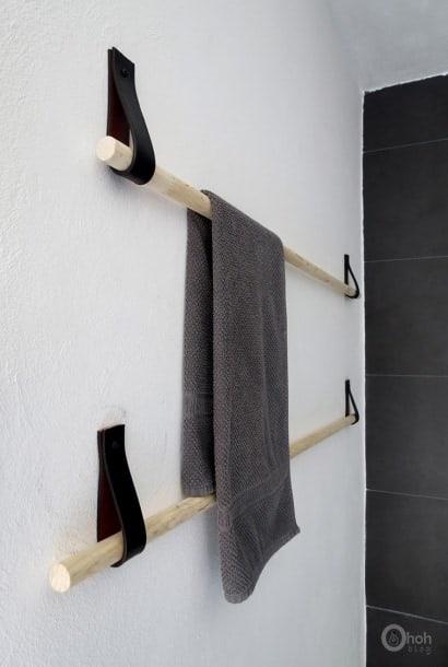 DIY : When old belts becomes modern towel holder