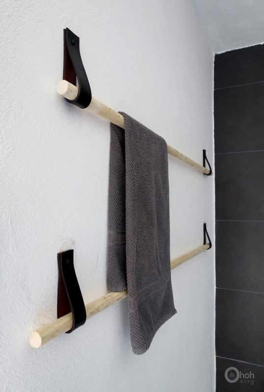 Diy : When Old Belts Becomes Modern Towel Holder Accessories Do-It-Yourself Ideas