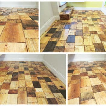 Diy: Pallet Wood Floor