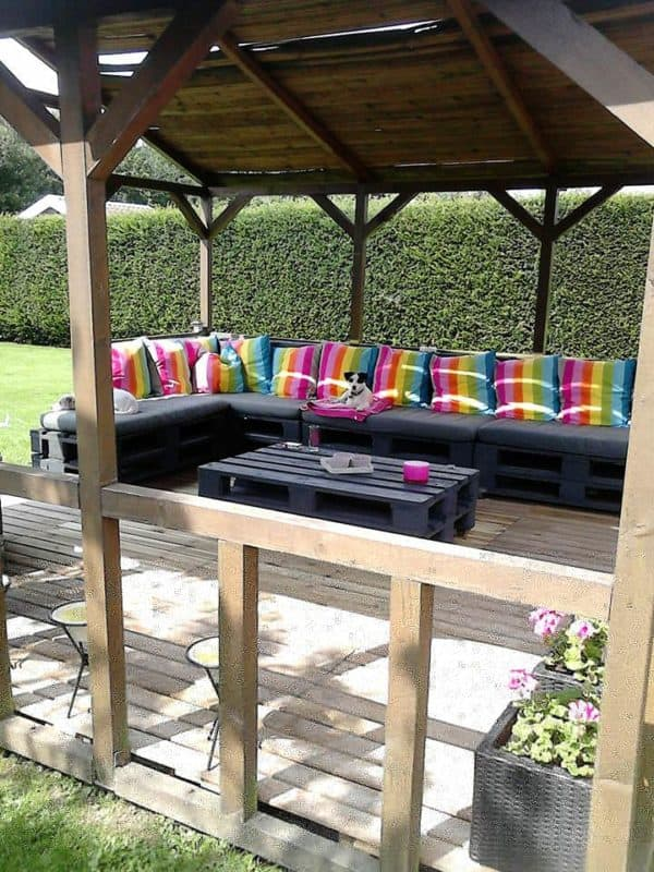 Pallet Terrace Garden Ideas Recycled Pallets