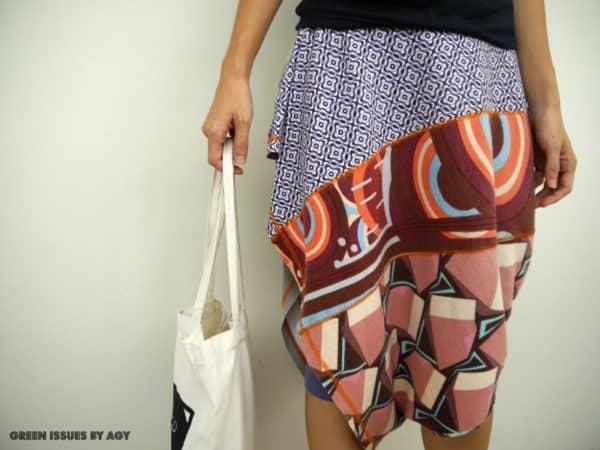 Upcycled Skirt Worn 4 Ways Do-It-Yourself Ideas