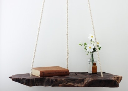 DIY: Wood log pendant table