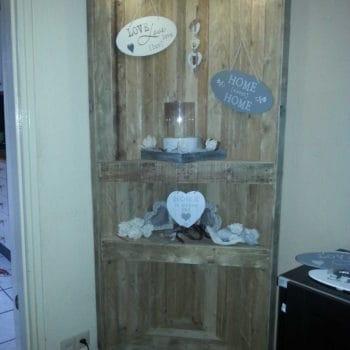 Pallets corner cabinet