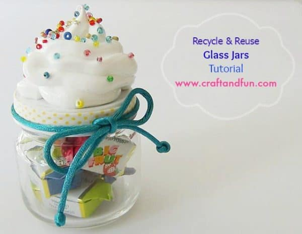 Recycle & Reuse Glass Jars - Tutorial Do-It-Yourself Ideas Recycled Glass