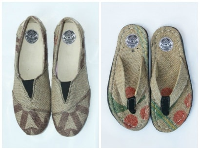Wiwi up-cycled footwear