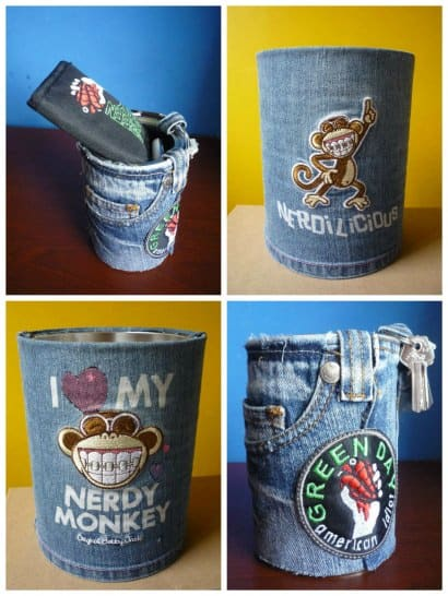 Recycled Jeans & Cans … multipurpose !