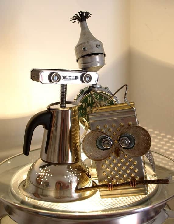 Rosie - The Found Object Robot Recycled Art