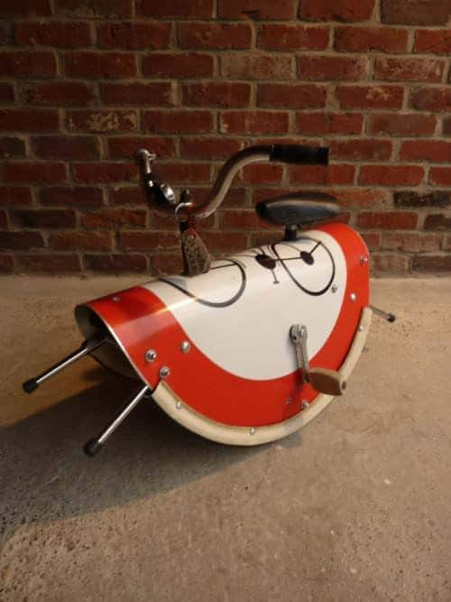 Rocking Horse from Repurposed Materials Bike & Friends Recycled Rubber Recycling Metal