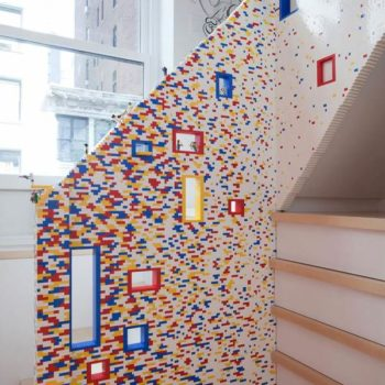 Staircase Shaped With 20,000 Lego Bricks