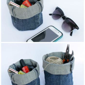 Diy: Upcycled Denim Bucket