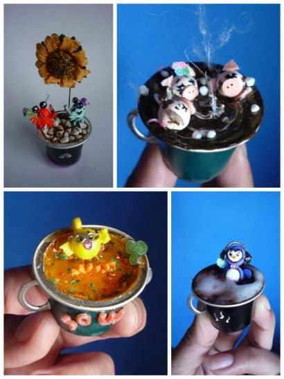 Nespresso capsule miniature art
