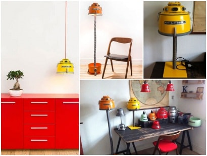 Lamps from recycled Nilfisk vacuums