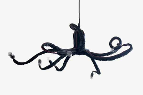 Octopus Chandelier Made Out Of Papier Mache Lamps & Lights