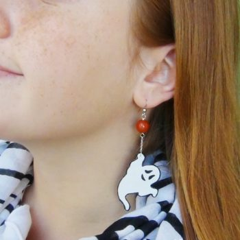 Halloween - How to make recycled plastic earrings