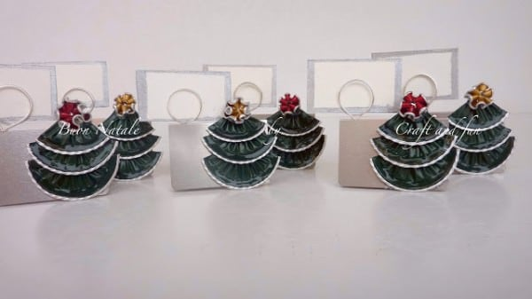 DIY: Christmas Placeholder With Recycled Coffee Capsules Accessories Do-It-Yourself Ideas