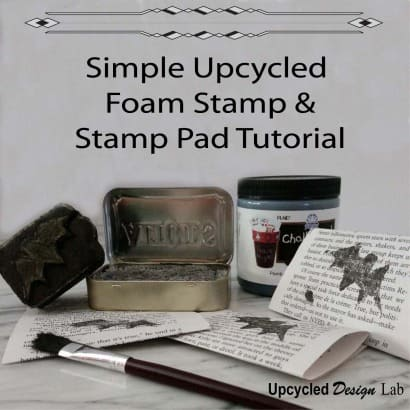Simple Upcycled Foam Stamp and Stamp Pad Tutorial