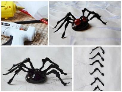DIY: Terrific spider with hot glue