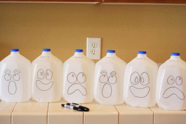 Jack-o'-Lantern from Recycled Milk Jugs Do-It-Yourself Ideas