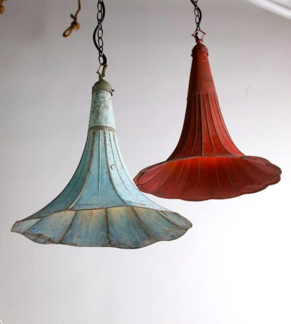 Pending Lamps From Recycled Gramophones Lamps & Lights