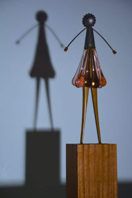 """Lizzy"" Sculpture From Vintage Glass Chandelier"