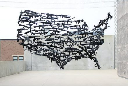 Michael Murphy's Installation From Repurposed Weapons