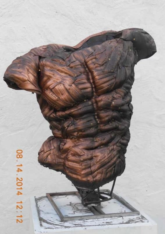 Recycled Tyre Sculpture by Mick Davis Recycled Rubber