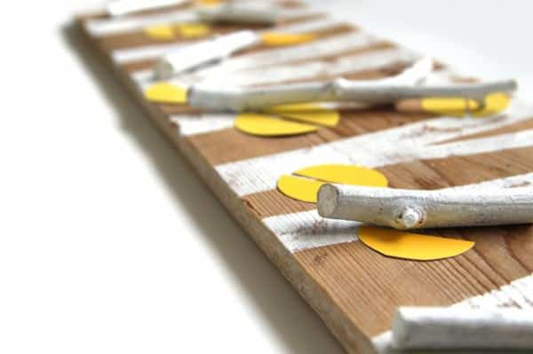 Birch Forest Coat Rack With Reclaimed Wood & Found Objects Do-It-Yourself Ideas