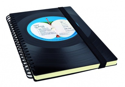 Notebook made from a Beatles vinyl record