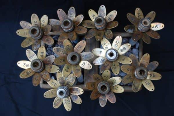 Brass Flowers Recycled Art