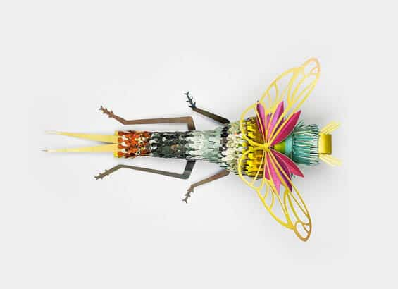 Magazine Recycled into Bugs Sculptures Recycled Art