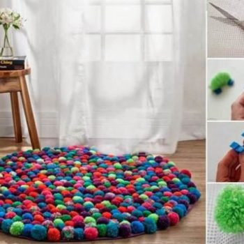 DIY Pebble Rug To Cozy Up Your Home