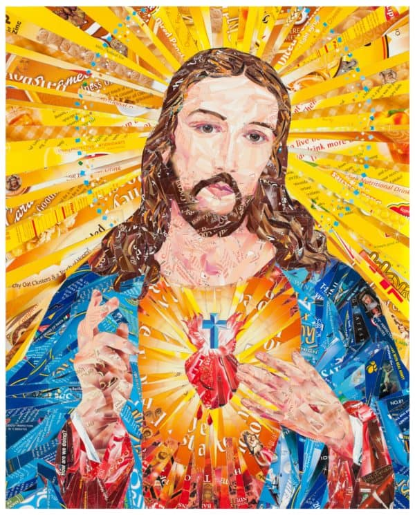 Sacred Heart – Up-cycled Recycled Art