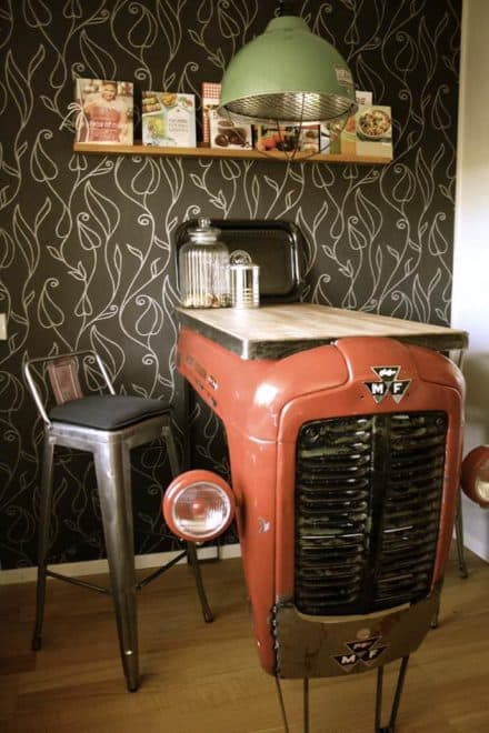 Old Massey Fergusson Tractor Repurposed As A Piece Of Industrial Design For Your Interior