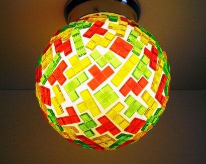 Tetris globe lamp