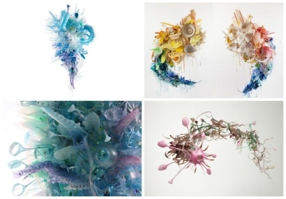 Beautiful Pieces of Art from Discarded Plastic by Aurora Robson