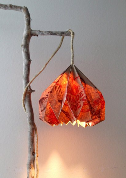 Grocery Bag Hack: Pendant Lamp