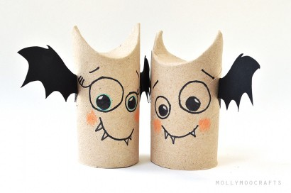 5 min toilet paper roll bat buddies (halloween craft)