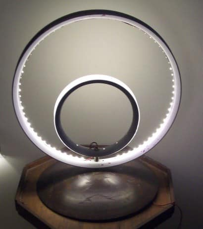 Modern light from bike rims