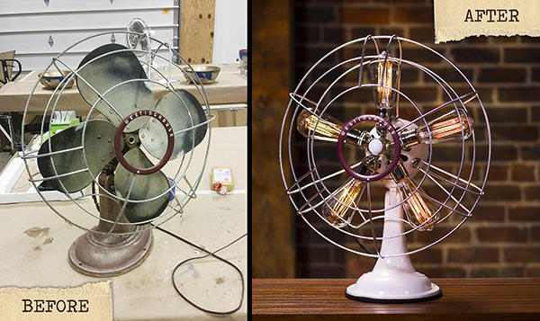 Vintage Westinghouse Fan Lamp Lamps & Lights Recycled Art