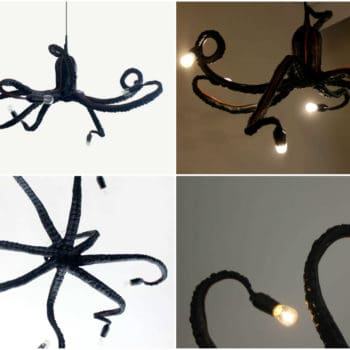 Octopus Chandelier Made Out Of Papier Mache