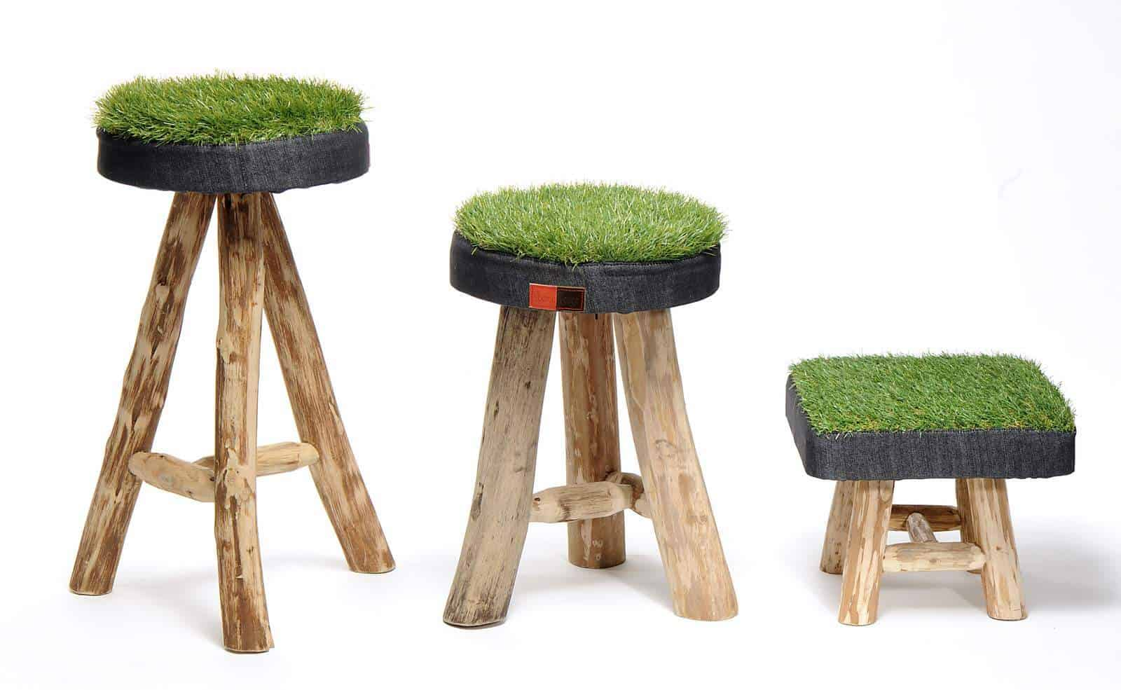 Sit on Grass • Recycled Ideas • Recyclart -> Ecksofa Leder Mit Hocker