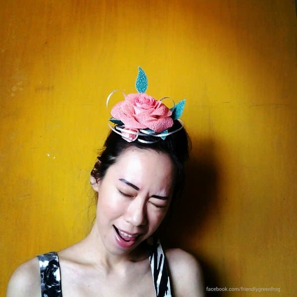Fascinator Made From Melted Recycled Pastic Bags Recycled Plastic