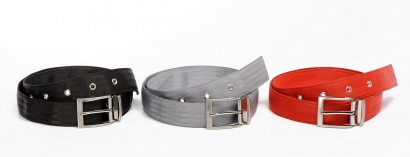 Belts made from recycled tires, truck tubes & seatbelts