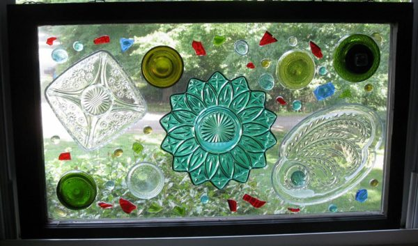 Recycled Glass Window Art Recycled Art Recycled Glass