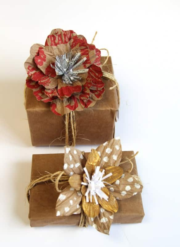 Unique Gift Wrap With Grocery Bags Accessories Recycling Paper & Books