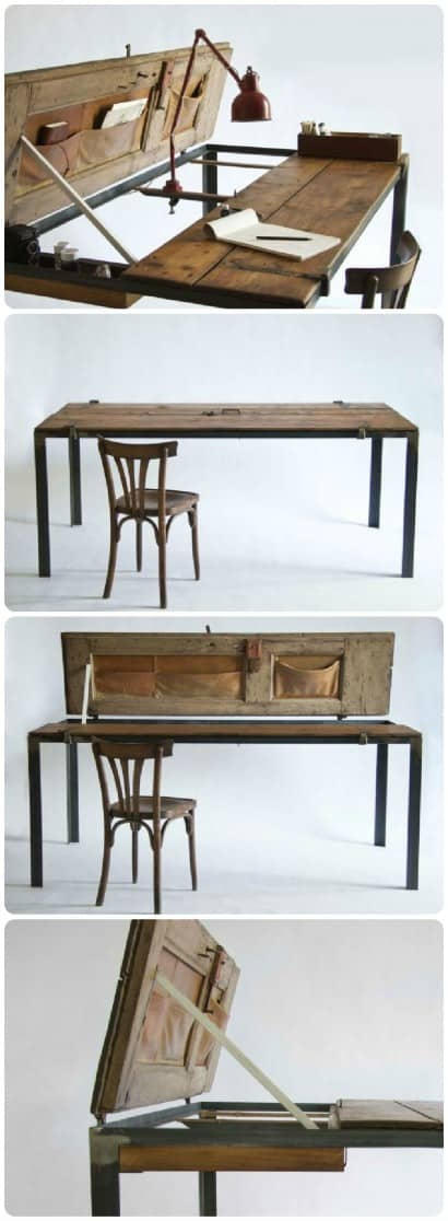 Reclaimed wood furniture by Manoteca