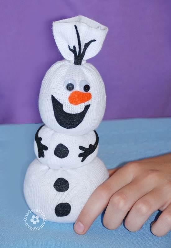 DIY Olaf Sock Snowman Tutorial Do-It-Yourself Ideas