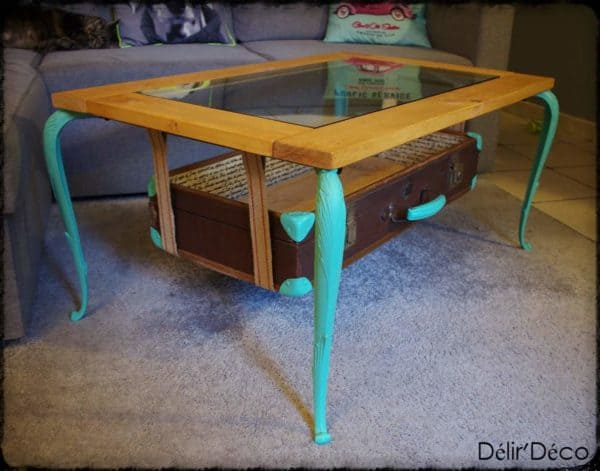 Coffee Table Suitcase Recycled Furniture
