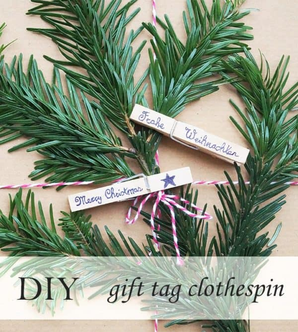 Gift Tag Clothespin Do-It-Yourself Ideas